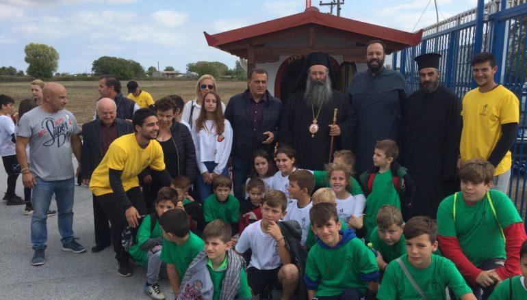 Θυρανοίξια παρεκκλησίου στην Ένωση Ποδοσφαιρικών Σωματείων Πιερίας