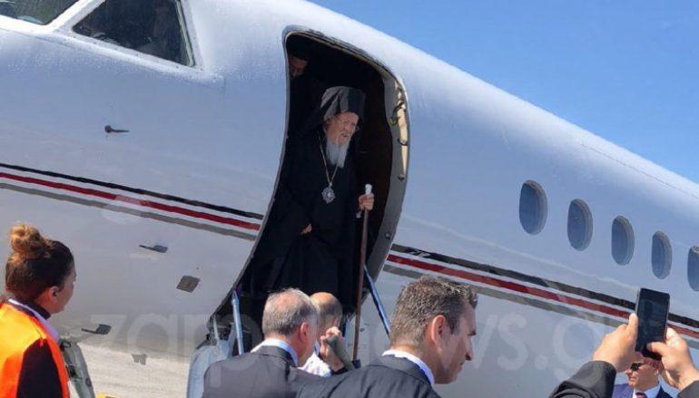 Έφτασε στα Χανιά ο Οικουμενικός Πατριάρχης Βαρθολομαίος (ΦΩΤΟ)