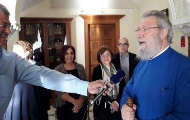 Ο Αρχιεπίσκοπος Κύπρου και πάλι στα καθήκοντά του