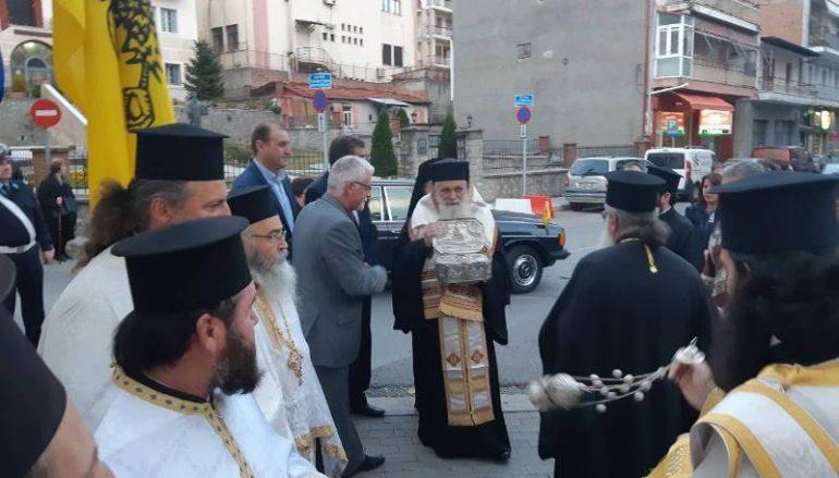 Τα Γρεβενά υποδέχθηκαν λείψανο του Αγίου Λουκά του Ιατρού (ΦΩΤΟ)