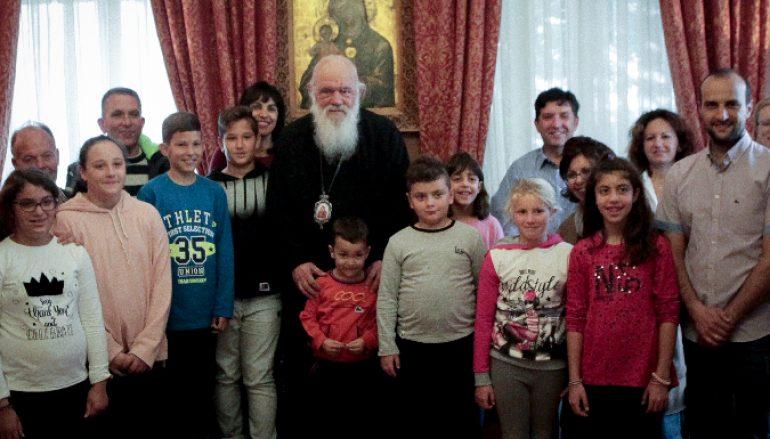 Μαθητές από την Νάξο στον Αρχιεπίσκοπο Ιερώνυμο (ΦΩΤΟ)
