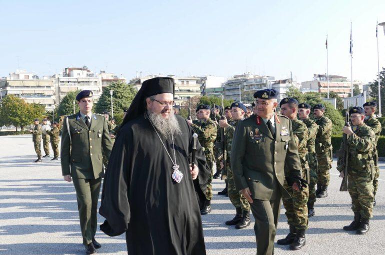 Την 1η Στρατιά επισκέφθηκε ο Μητροπολίτης Λαρίσης (ΦΩΤΟ)