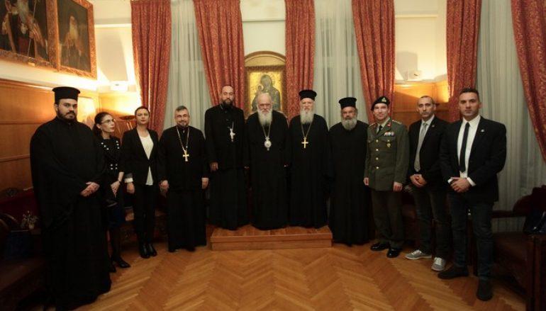 Αντιπροσωπεία της Θρησκευτικής Υπηρεσίας Ρουμανικών Ε.Δ. στον Αρχιεπίσκοπο