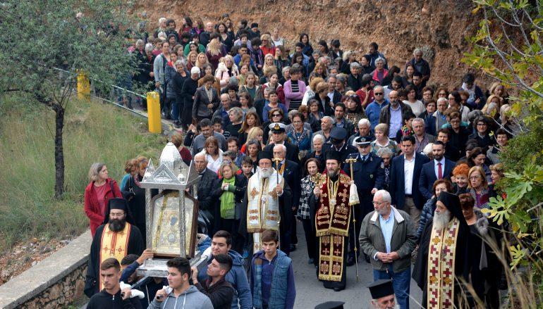 Την Εικόνα της Παναγίας Έλωνας υποδέχθηκε το Λεωνίδιο (ΦΩΤΟ)