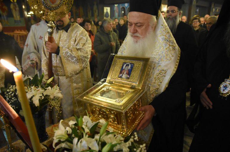 Υποδοχή Λειψάνου του Αγίου Λουκά του Ιατρού στην Ι. Μητρόπολη Κίτρους