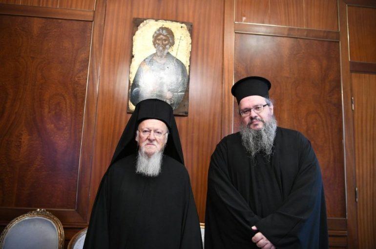 Ο νέος Μητροπολίτης Λαρίσης στον Οικουμενικό Πατριάρχη