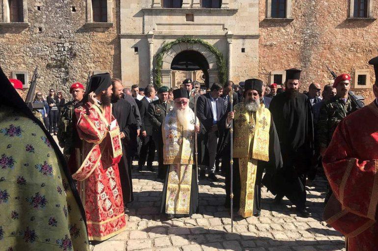 152ης Επέτειος του Ολοκαυτώματος της Ι. Μονής Αρκαδίου (ΦΩΤΟ)