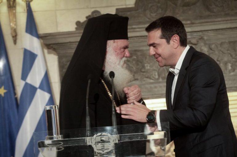 Ιστορική συνάντηση Ιερωνύμου -Τσίπρα. Κοινό Ανακοινωθέν (ΒΙΝΤΕΟ)