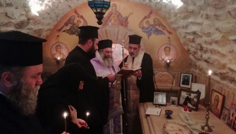 Τρισάγιο στον τάφο του μακαριστού Μητροπολίτου Μάνης Χρυσοστόμου