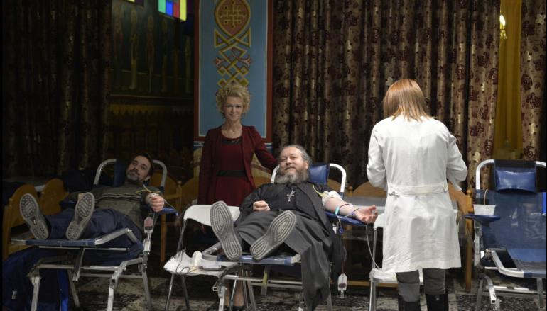 """Με εθελοντική αιμοδοσία ξεκίνησαν τα """"Εόρτια"""" του Ι. Ν. Αγ. Ελευθερίου Αχαρνών"""