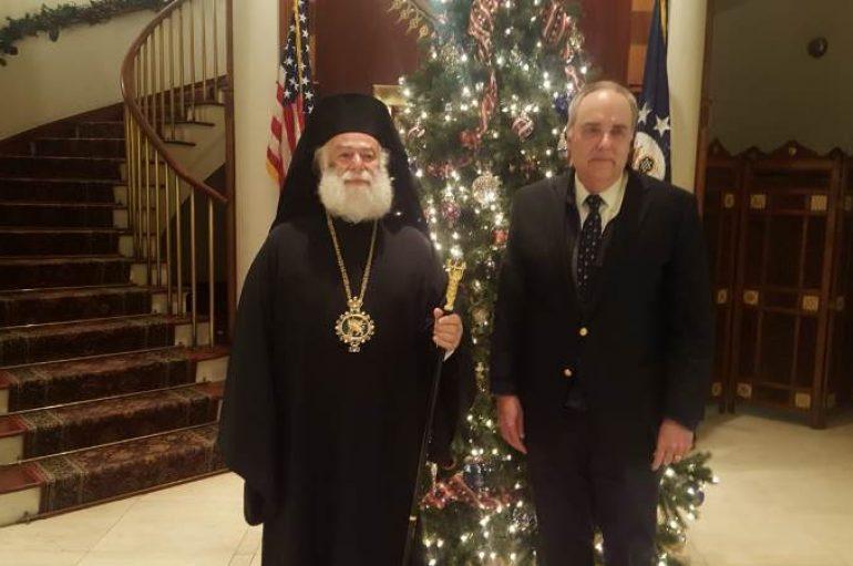Ο Πατριάρχης Αλεξανδρείας στον Αμερικανό Πρέσβη στο Κάιρο