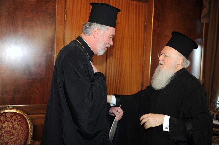 Ο Μητροπολίτης Βελγίου στο πλευρό του Οικουμενικού Πατριάρχου