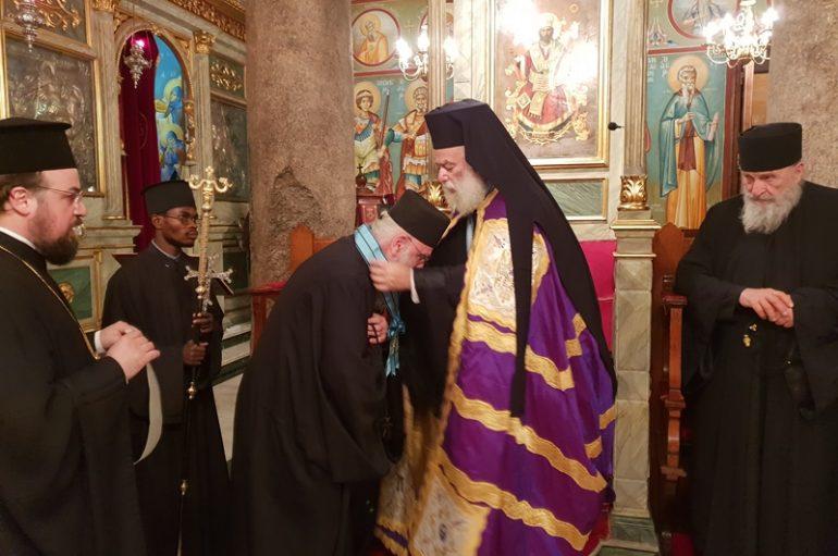Ο Πατριάρχης Αλεξανδρείας τίμησε τον Γέροντα Νικόδημο Αγιοπαυλίτη