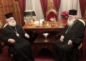Στον Αρχιεπίσκοπο Ιερώνυμο ο Πατριάρχης Αλεξανδρείας Θεόδωρος