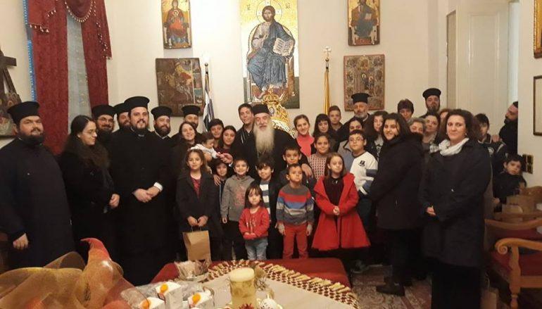 Δώρα σε παιδιά Ιερέων μοίρασε ο Μητροπολίτης Σάμου Ευσέβιος