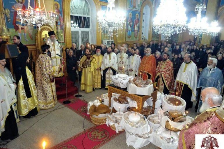 Ο εορτασμός της Αγίας Βαρβάρας στην Ι. Μητρόπολη Σπάρτης