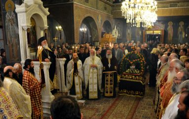 Αρχιερατικός Εσπερινός για την Αγία Βαρβάρα στην Τρίπολη (ΦΩΤΟ)