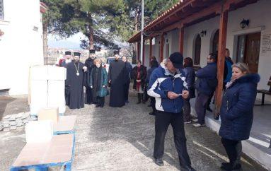 Διανομή τροφίμων στην Ιερά Μητρόπολη Μαρωνείας