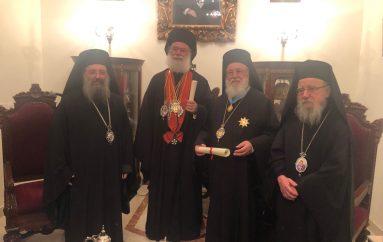 Ὁ Πατριάρχης Ἀλεξανδρείας ἐτίμησε τόν Μητροπολίτη Μαντινείας Ἀλέξανδρο
