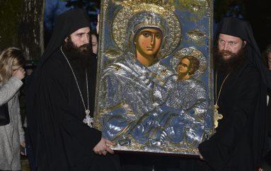 Ο ερχομός της Παναγίας Εσφαγμένης στο ανδρικό μοναστήρι του Τρικόρφου