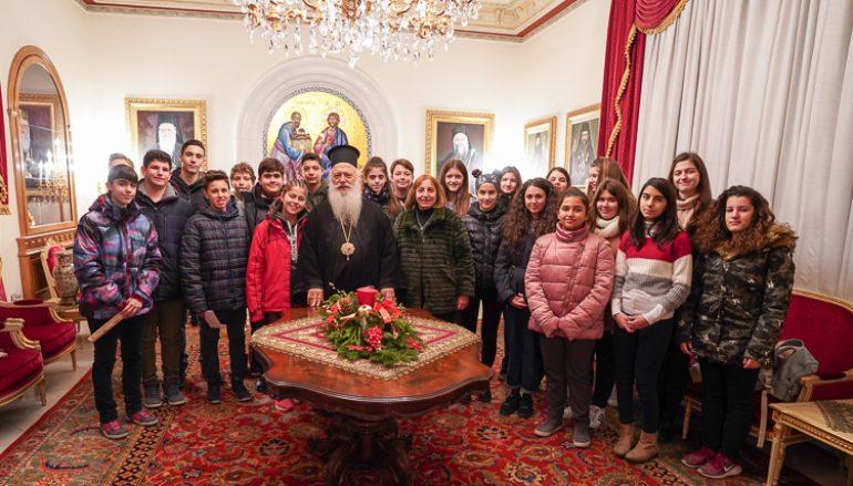Τα κάλαντα των Χριστουγέννων έψαλαν στον Μητροπολίτη Βεροίας