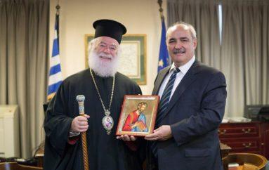 Ο Πατριάρχης Αλεξανδρείας στον Υφυπουργό ΕξωτερικώνΜάρκοΜπόλαρη