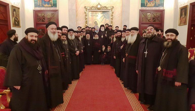 Κληρικοί της Κοπτικής Εκκλησίας στο Πατριαρχείο Αλεξανδρείας