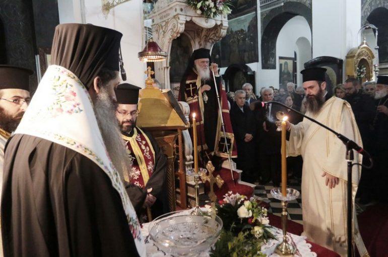 Ο Αρχιεπίσκοπος στον αγιασμό επαναλειτουργίας του Ι. Ν. Αγ. Βασιλείου στο Ρουφ