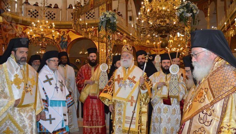 Ο Πατριάρχης Αλεξανδρείας στην Ι. Μητρόπολη Νεαπόλεως