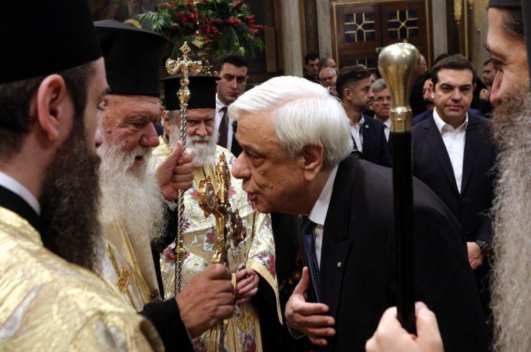 Δοξολογία για τη νέα χρονιά στον Ι. Μητροπολιτικό Ναό Αθηνών