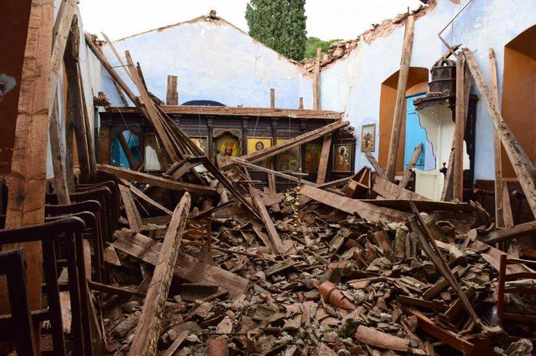 Κατέρρευσε εκκλησία του 1789 στην Ύδρα