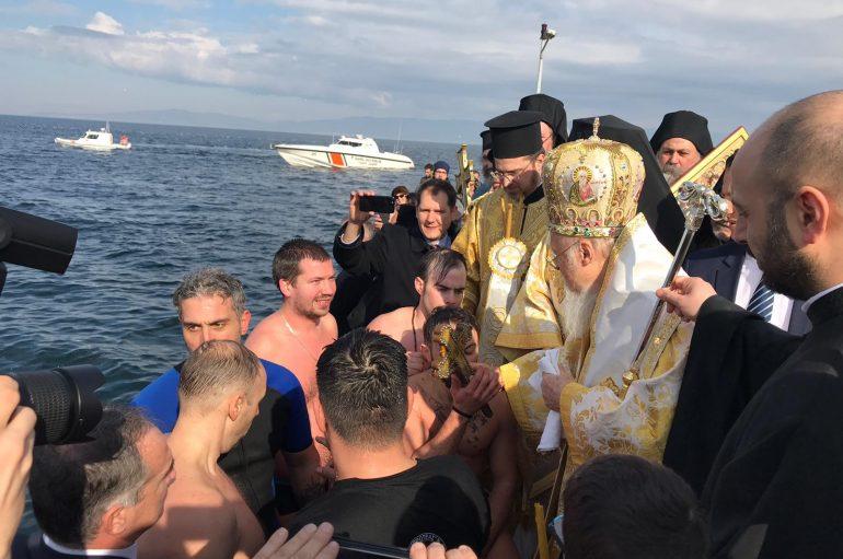 Ο Καθαγιασμός των Υδάτων από τον Οικ. Πατριάρχη στην Τρίγλια