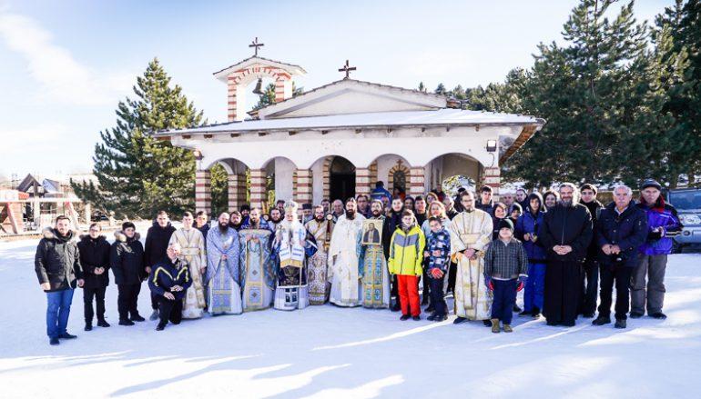 Λαμπρά πανηγύρισε ο Άγιος Σεραφείμ του Σαρώφ στο Χιονοδρομικό Κέντρο Σελίου