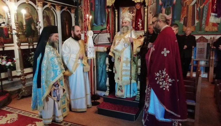 Ο Μητροπολίτης Μάνης στον Ι. Ναό Γενεσίου της Θεοτόκου Βαχού Λακωνίας
