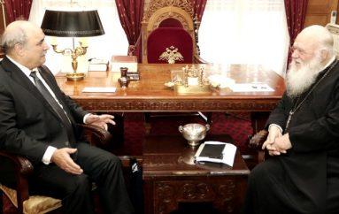 Στον Αρχιεπίσκοπο ο Υφυπουργός Εξωτερικών Μ. Μπόλαρης