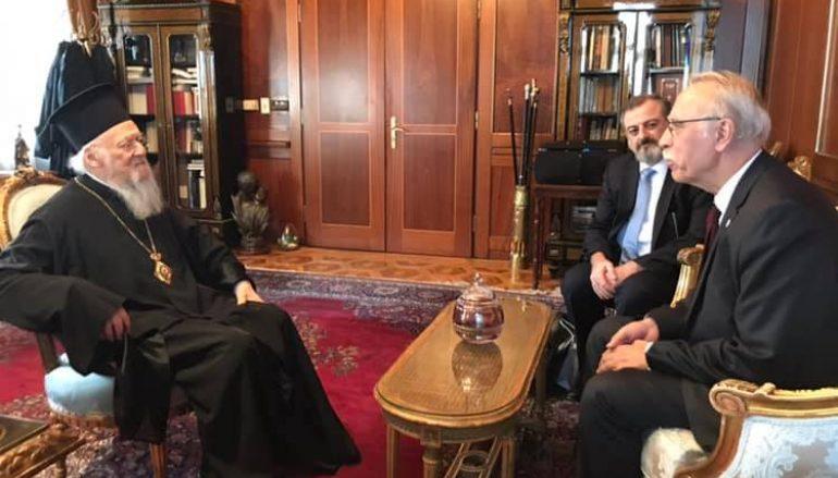 O Υπουργός Μεταναστευτικής Πολιτικής Δημ. Βίτσας στον Οικ. Πατριάρχη