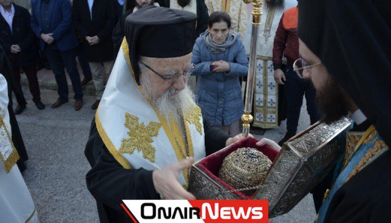 Το Μεσολόγγι υποδέχθηκε την Τίμια Κάρα του Αγίου Παρθενίου