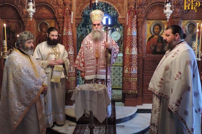 Ο Μητροπολίτης Άρτης στην Ιερά Μονή Ροβελίστης