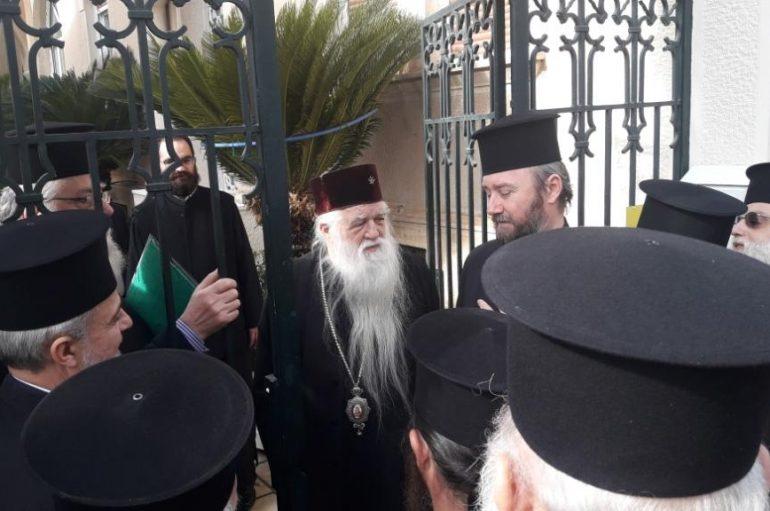 Οι κληρικοί της Ι. Μ. Καλαβρύτων συμπαραστέκονται στον Μητροπολίτη τους