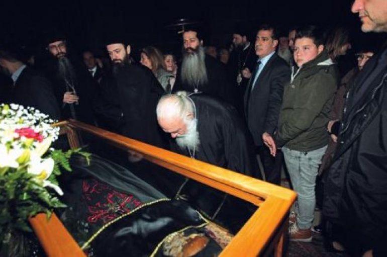 Ο Αρχιεπίσκοπος στον Εσπερινό στην ιστορική Μονή του Οσίου Λουκά