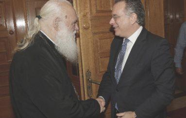 Συνάντηση του Αρχιεπισκόπου με τον Γ. Κουμουτσάκο