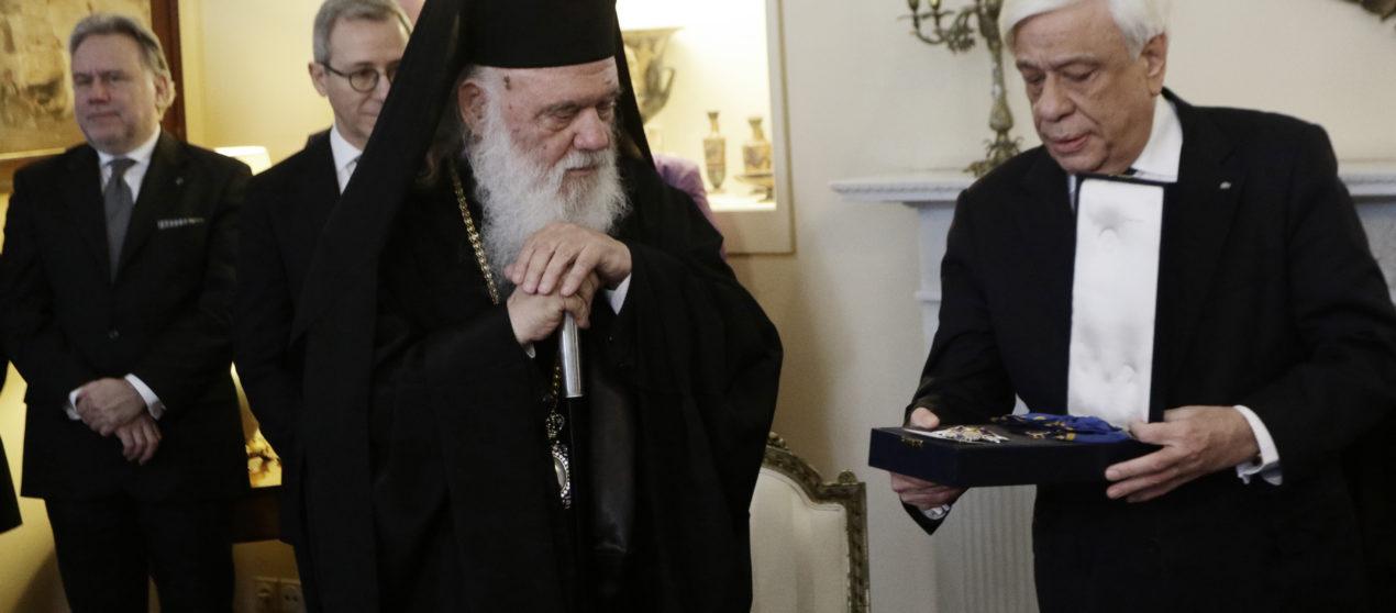 Ο Πρόεδρος της Δημοκρατίας τίμησε τον Αρχιεπίσκοπο Ιερώνυμο