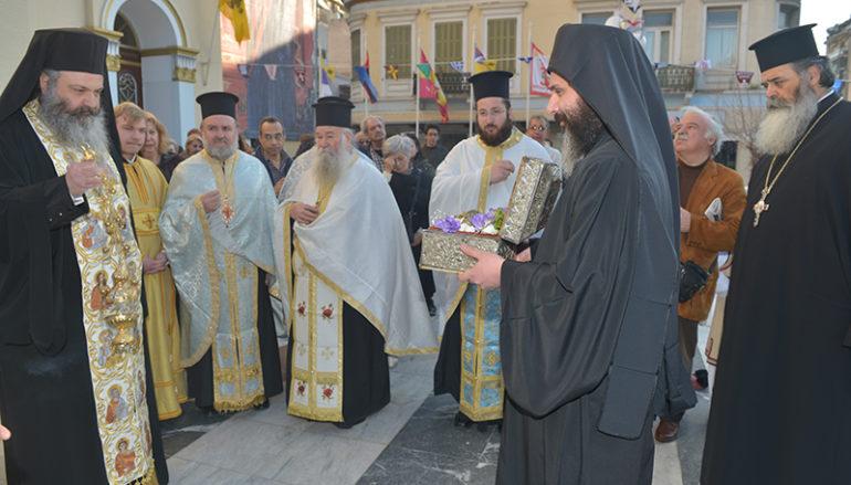 Υποδοχή της Τιμίας Κάρας του Αγίου Παρθενίου στην Ευαγγελίστρια Πειραιώς