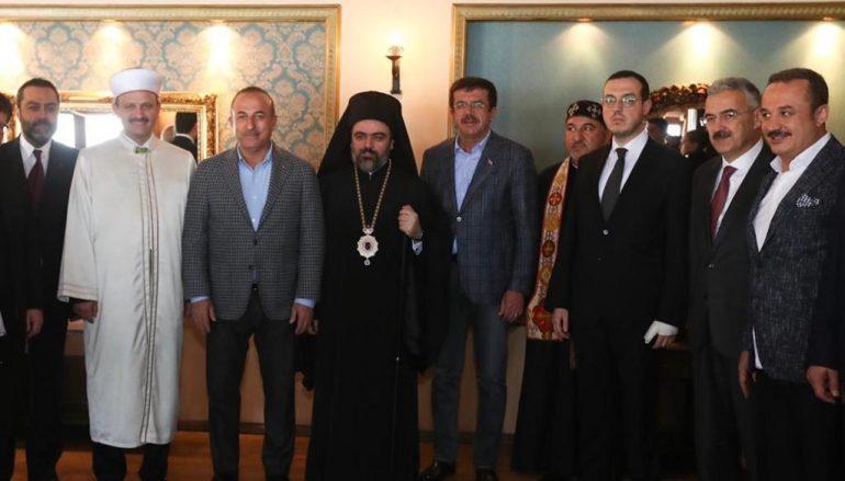 Ο Μητροπολίτης Σμύρνης σε γεύμα του Υπουργού Εξωτερικών της Τουρκίας