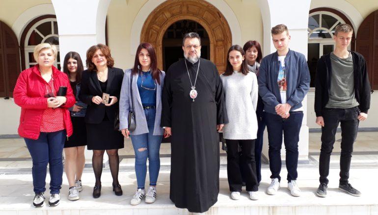 Επίσκεψη μαθητών Λυκείου στο Μητροπολίτη Μεσσηνίας