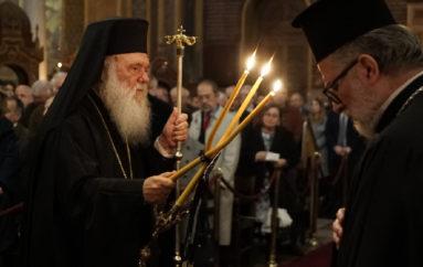 Ο Αρχιεπίσκοπος στον Ι. Ναό  Αγίου Διονυσίου Αρεοπαγίτου