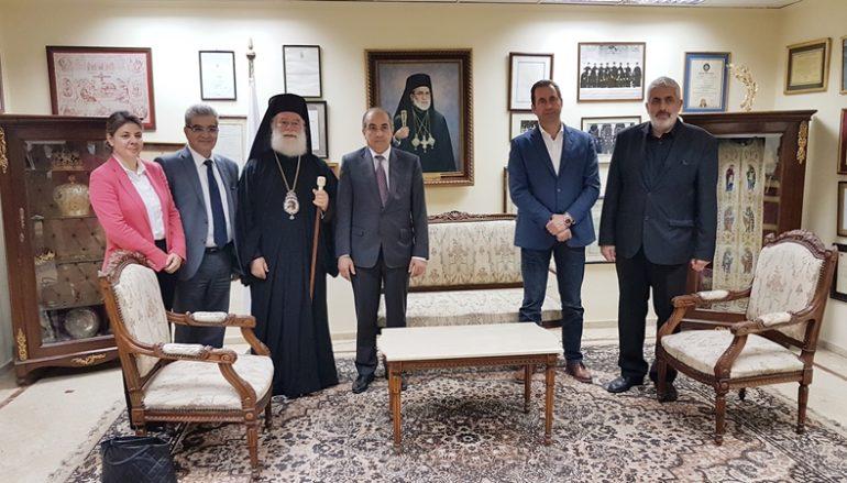 Στον Πατριάρχη Αλεξανδρείας ο Πρόεδρος της Κυπριακής Βουλής