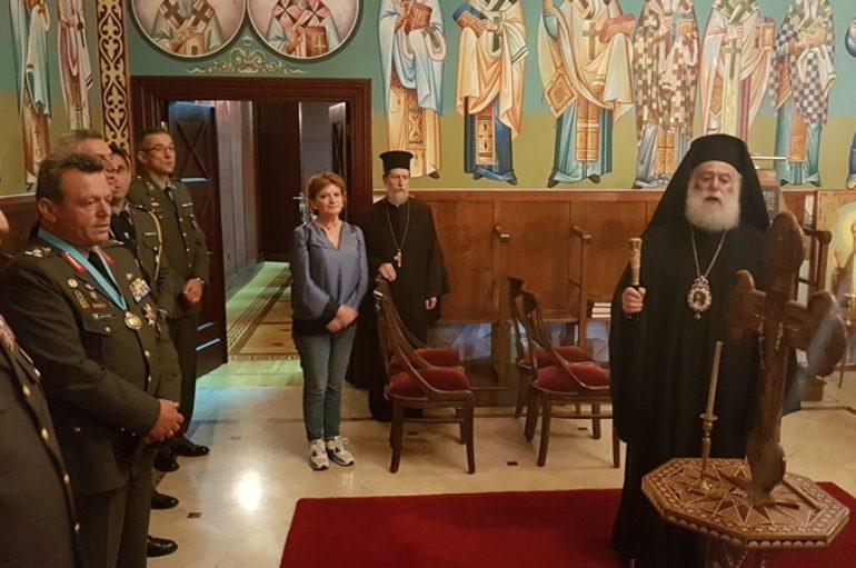 Ο Πατριάρχης Αλεξανδρείας τίμησε τον Αρχηγό της Εθνικής Φρουράς Κύπρου