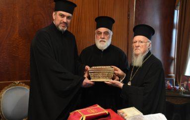 Απότμημα Λειψάνου της Αγ. Αναστασίας Φαρμακολυτρίας παραδόθηκε στον Οικ. Πατριάρχη