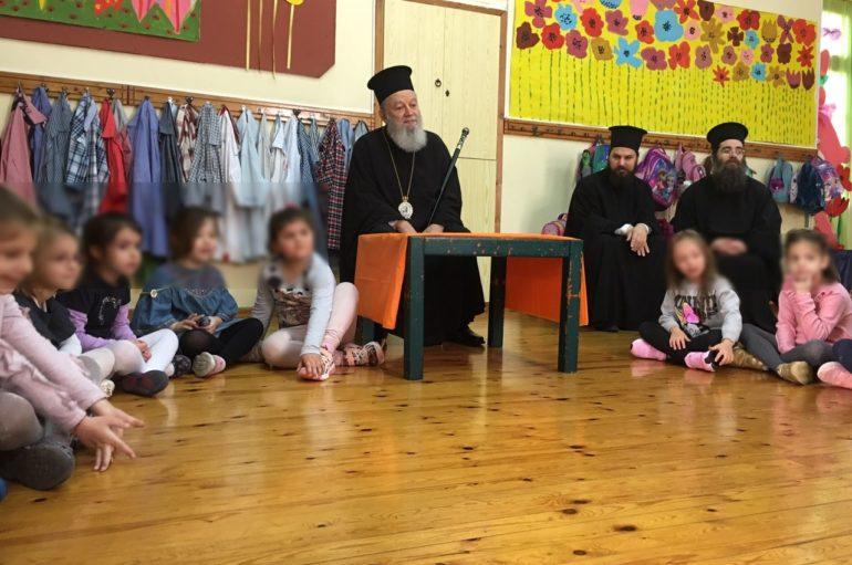 Επικοινωνία του Μητροπολίτη Χαλκίδος με μαθητές σχολείων
